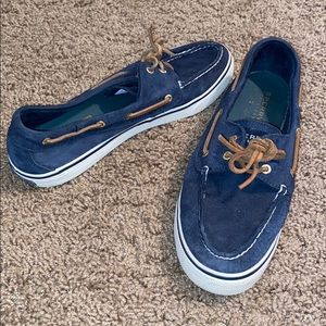 Navy shoes